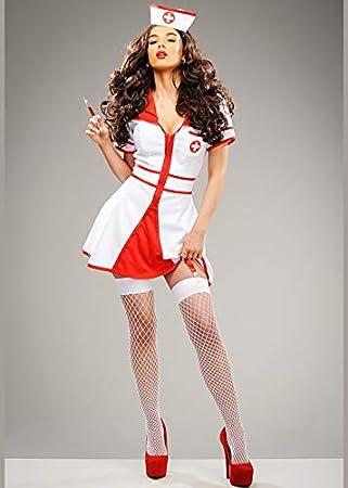 Magic Box Disfraz de Enfermera de Hospital Blanco Lindo para Mujer ...