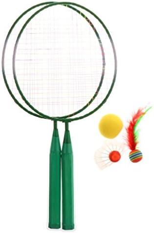 Perfk 子供向け 家庭ゲーム ミニバドミントン ラケット バーディーボール 週末遊び スポーツ用具 快適 1セット