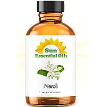 Neroli - LARGE 4 OUNCE - Organic, 100% Pure Essential Oil (Best 4 fl oz / 118ml) - Sun Organic