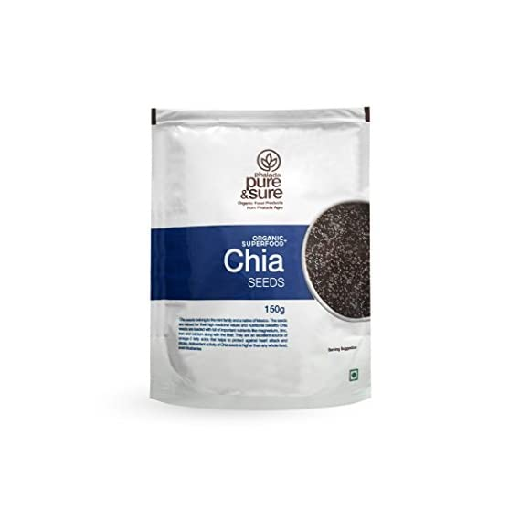 Pure and Sure Organic Chia Seeds, 150g