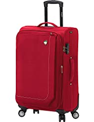 Mia Toro Madesimo Softside 24 Inch Spinner Luggage, Red