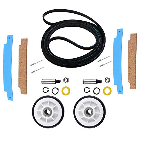 Price comparison product image Wadoy Dryer Repair kit Compatible with Maytag,  Jenn-Air,  Crosley,  Whirlpool,  Kenmore - 312959 Dry Drum Belt, 303373 Drum Roller with Shaft, 306508 Dry Tumbler Bearing Kit