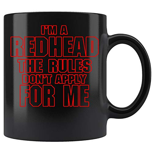 (Redhead Red Head Rules Don't Apply For Me Coffee Mug 11oz Tea Cups Gift)