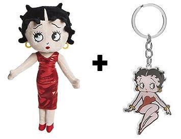 Peluche Betty Boop con vestido rojo 32cm Calidad super soft ...
