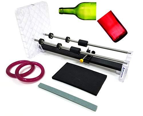 Creator's Bottle Cutter Machine DIY Precision Pro Grade - Cuts Glass Wine/Beer Bottles - Includes Abrasive Stone