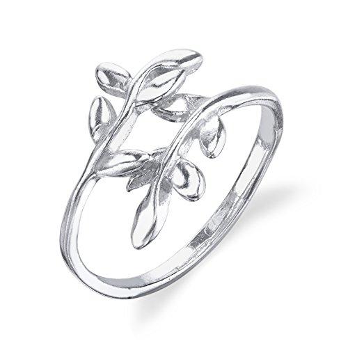 leaf ring sterling silver - 5