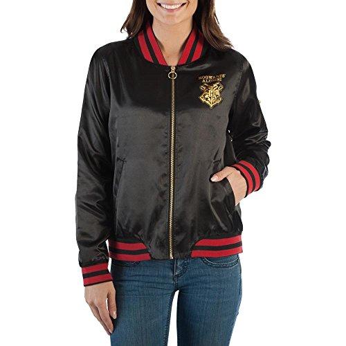 Bioworld Harry Potter Bomber Juniors Jacket Hogwarts,Black,XX-Large (Bomber Pin)