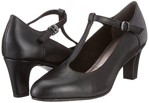 Sandales Bride 24495 black Cheville Tamaris Noir Femme wq4ax
