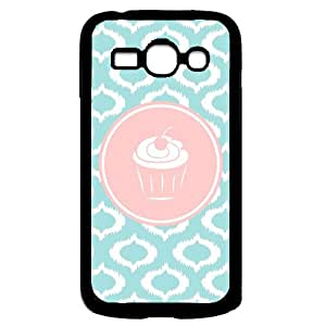 Be A Cheerl Cupcake Aqua Ikat Cute Hipster Aqua Silicon Bumper Samsung Galaxy Ace 3 i7272 Case - Fits Samsung Galaxy Ace 3 i7272