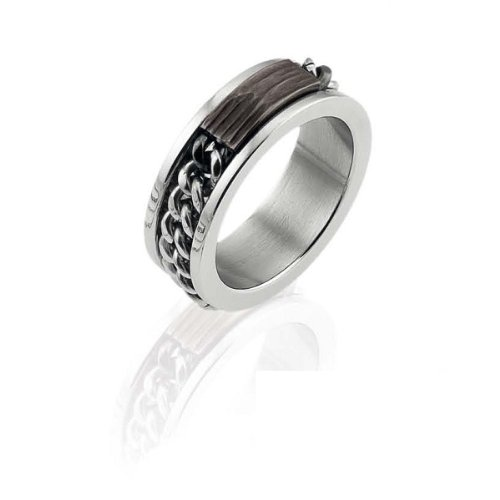 Zoppini Stainless Steel Chain Ring ()