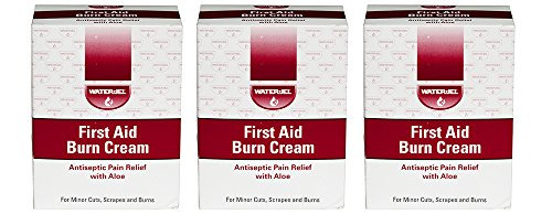 Waterjel 2692 First Aid Antiseptic Burn Cream IWvQe for Pain Relief, 0.9gm Packet 144 Count (3 Pack) by Water Jel