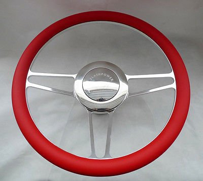 Aluminum Horn Button for 9-bolt Steering Wheels Big Polished