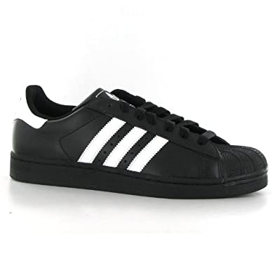 Adidas Superstar II Black White Leather Mens Trainers Size 8: Amazon ...