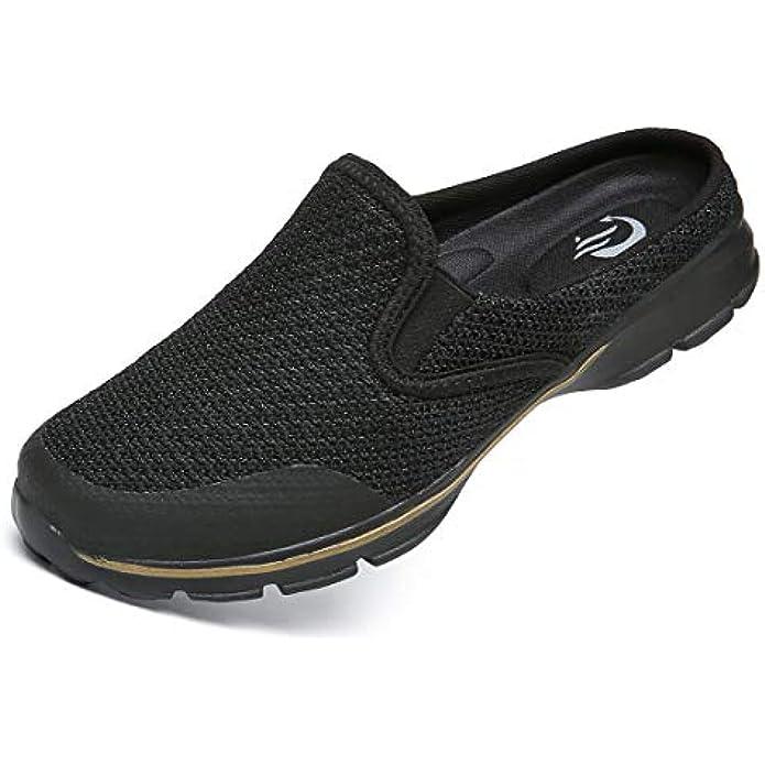 C CELANDA Breathable Lightweight Mesh Shoes Garden Clogs Mules