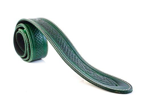 LeatherGraft Emerald Green Genuine Leather Celtic Knot Texas Swirl Pattern Design 2