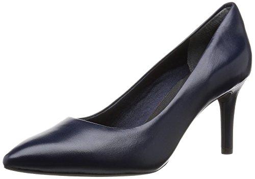Rockport Total Motion 75mm Pointy Toe Pump, Zapatos de Tacón para Mujer Azul (Deep Ocean Nappa)