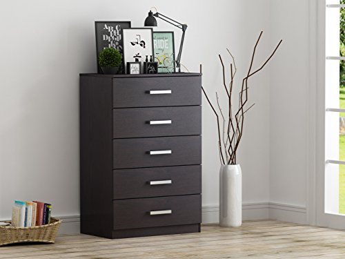 HOMESTAR EB209107B9 Alexander 5-Drawer Chest, 27.56