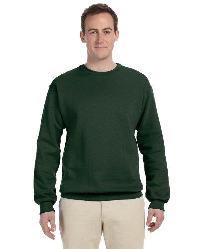 Jerzees Men's Smooth Pill-Resistant Fleece Sweatshirt, Frst Green, - Resistant Pill