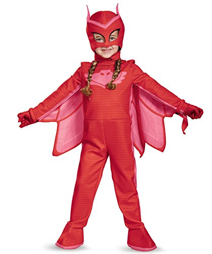 Owlette Deluxe Toddler PJ Masks Jumpsuit with Attached Boot Covers, (Pj Costumes)