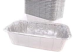 Disposable Aluminum 2 Lb. Loaf Pan , 8 X 3 7/8 X 2 19/32, By Handi- Foil (100)