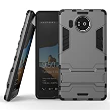 """For Microsoft Lumia 950 XL Case 5.7"""" Cool Protective Cover Phone Cases Rugged Impact Armor Hybrid Dual-Layer Detachable Shockproof Shell - Gray"""