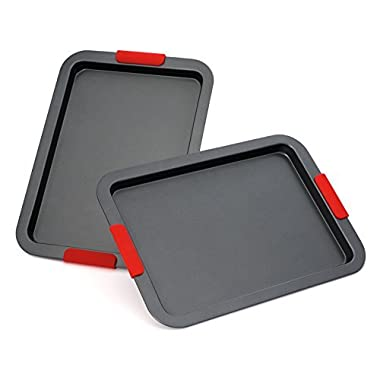 Elite Bakeware NonStick Baking Pans Set - Baking Sheets - Cookie Sheets - Premium Bakeware Set