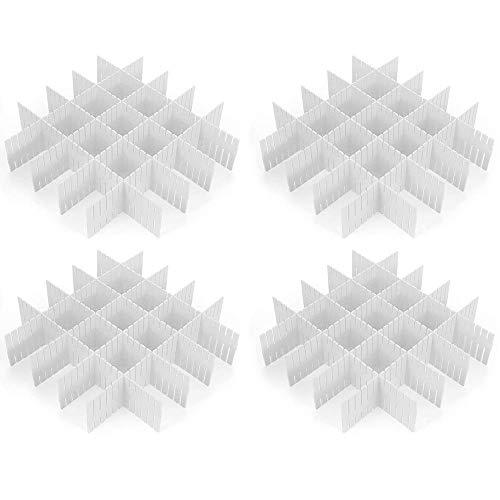 Croing - 32 pcs White - Drawer Dividers - Drawer Organizer - Ornament Storage Dividers - Drawer Separators