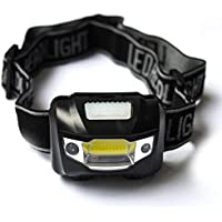 Rechargeable LED Headlamp for Camping Hiking Hunting, Wear Running Headlight Powered by 3 AAA Batteries ( Not Included…