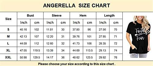 ANGERELLA WOMENS SHORT SLEEVE ROUND NECK T SHIRTS LOOSE CASUAL SUMMER TOPS TEES WITH POCKET