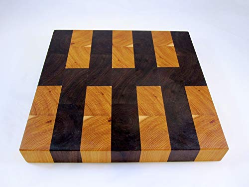 End Grain Cutting Board of Butternut & Walnut #A63 (ready to ship)