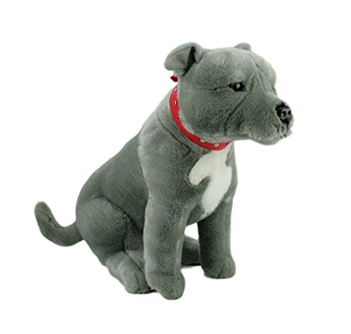 (Bocchetta Plush Toys Storm Sitting Grey Staffordshire Bull Terrier (Staffy), 33cm/13)