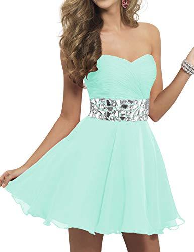 Prom Bridal Party Bess Lace Mint up Homecoming Chiffon Sweetheart Women's Dress Green Mini Uq0dnqp