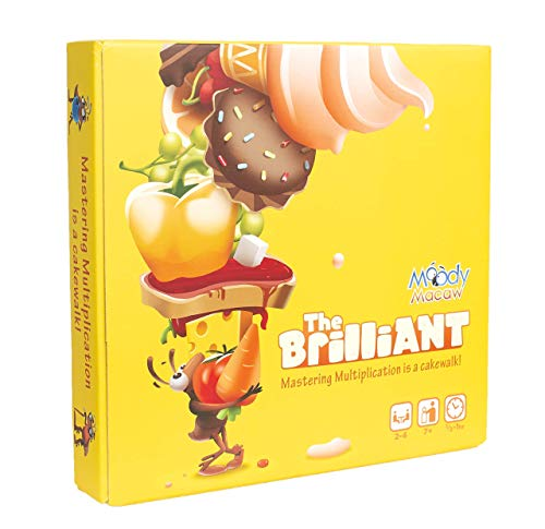 The Brilliant: Math Board Game for Learning Multiplication Through Play. Geeky STEM Toy n Gift for Boys n Girls Ages 7 Years n up ()