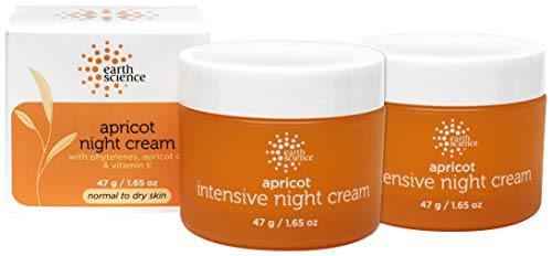 EARTH SCIENCE - Apricot Night Cream with Hydrating Apricot and Vitamin E for Dry Skin (2pk, 1.65 oz) (The Best Night Cream For 30 Years Old)