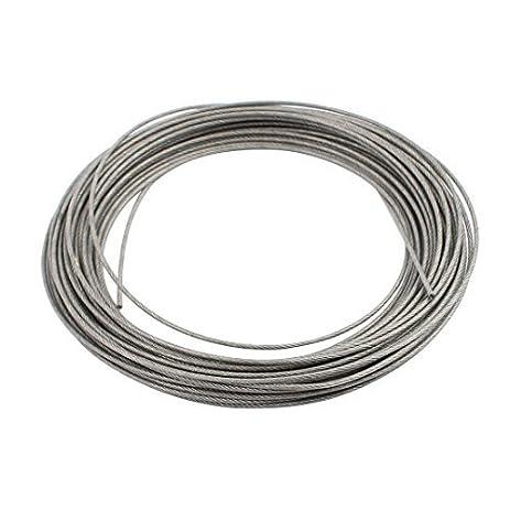 DealMux 10M Length 1.2mm Diameter Plastic Coated Flexible Steel Wire ...