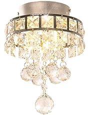 DAXGD Kristallamp, mini-hanglampen met 3 lampen voor hal, slaapkamer, keuken, kinderkamer