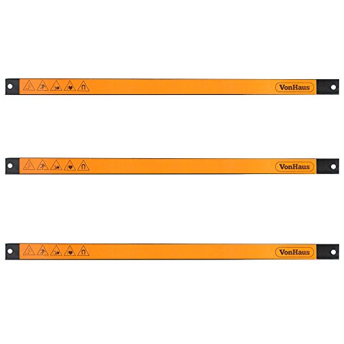 """VonHaus 3 X 24"""" Piece Magnetic Tool Strip Holder Organizer Racks Ideal for Garage and Workshops (Mounting Screws Included)"""