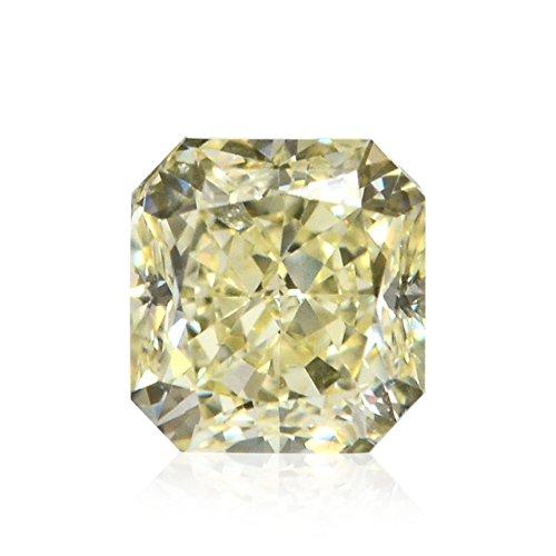 Diamond Radiant Loose Diamonds (0.67Cts Y-Z, Light Yellow Loose Diamond Natural Color Radiant Cut IGI)