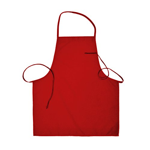 Home Depot Apron Costumes (Basic Bib Apron no pockets with Extra Long Ties (2, Red))