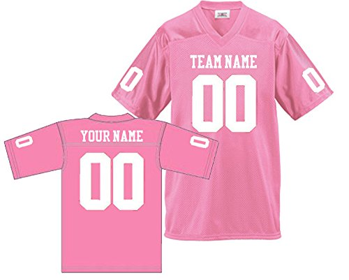 - Custom Football Replica Team Jersey (X-Large, Pink)