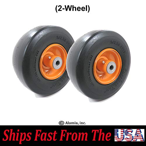 (2-Wheel) Solid Flat Free Front Wheel Fits Scag 32, 36, 48, 52
