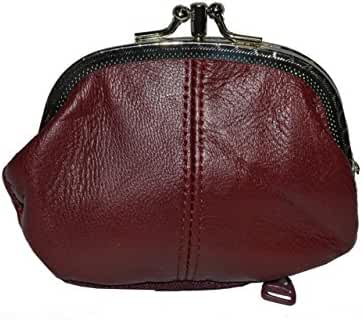 Coin Purse Double Frame with Zipper Pocket