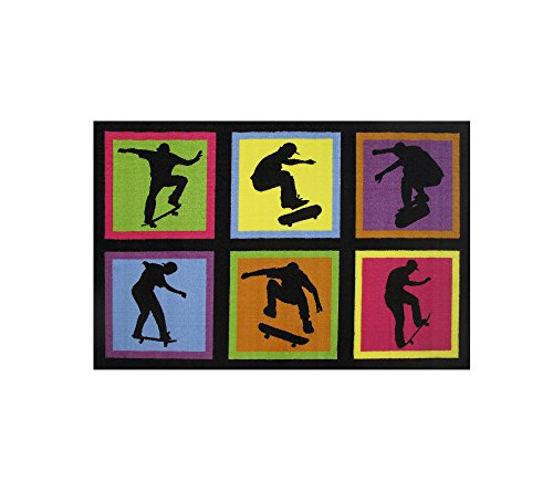 Fun Rugs Kids Home Decorative Area Rug Nylon Skateboarding Fun 19