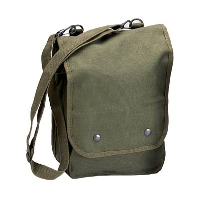 519b014c9b4f 5796 Canvas Map Shoulder bag (Olive Drab)