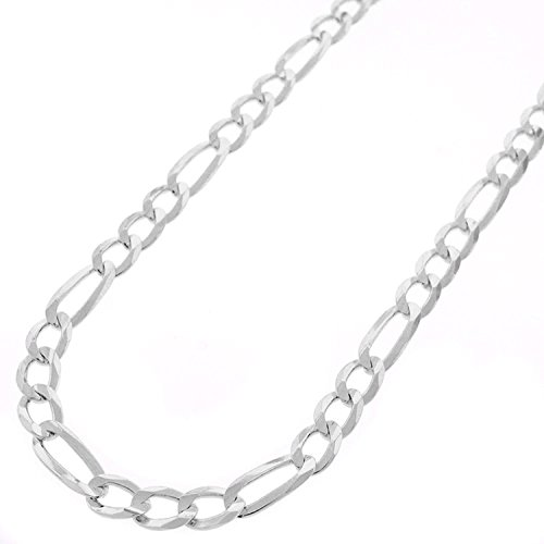 Sterling Silver Italian 5mm Figaro Link ITProLux Solid 925 Necklace Chain 16