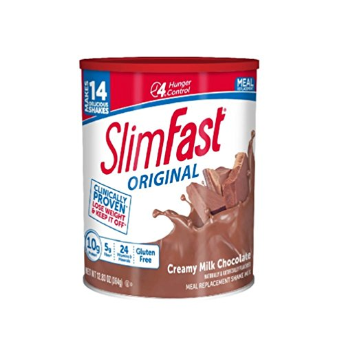 SlimFast - Original Meal Replacement Shake Mix Powder - Weight Loss Shake - 10g of Protein - 24 Vitamins and Minerals Per Serving - Great Taste - 12.83 oz. - Creamy Milk Chocolate