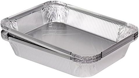 100 bandejas de aluminio tapa cuadrada modelo