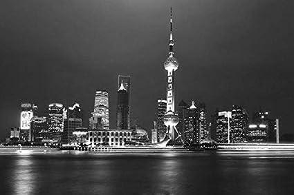 Amazoncom Shanghai Skyline World 10335 Wall Art