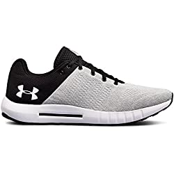 Under Armour Men's Micro G Pursuit Running Shoe,Black (002)/White,9