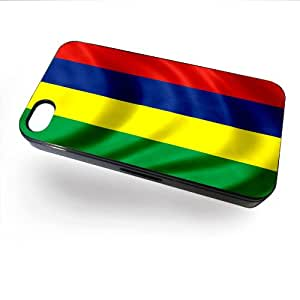 Case for iPhone 4/4S with Flag of Mauritius